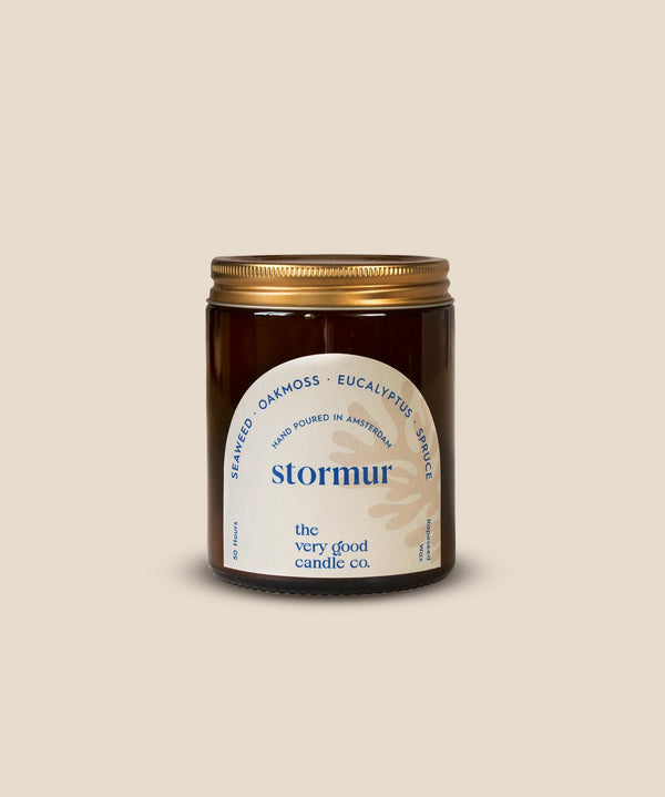 The Very Good Candle Company - STORMUR - Rapeseed Candle Mid Size 170ml 45-50 Hours