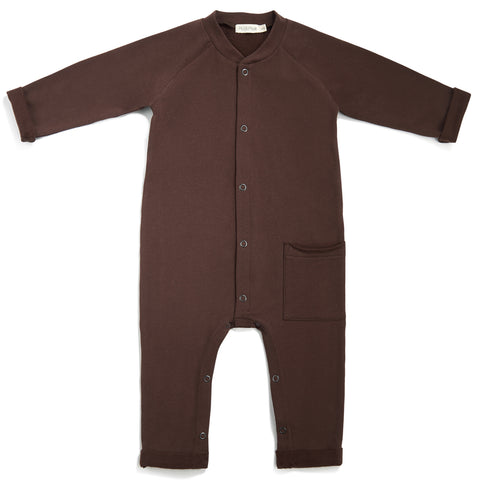Phil and Phae Sweat Jumpsuit Cocoa