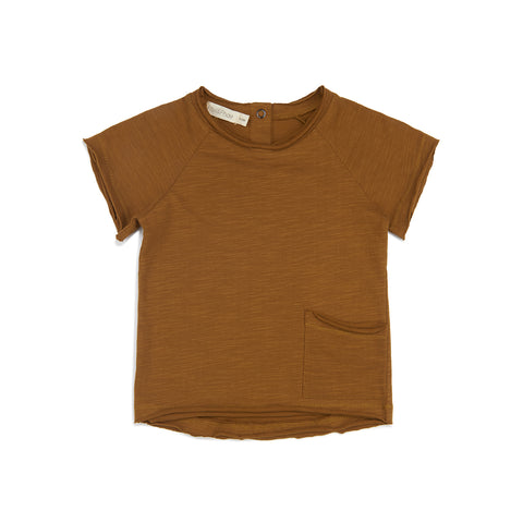 Phil and Phae Raw-edged Tee Gold Camomile