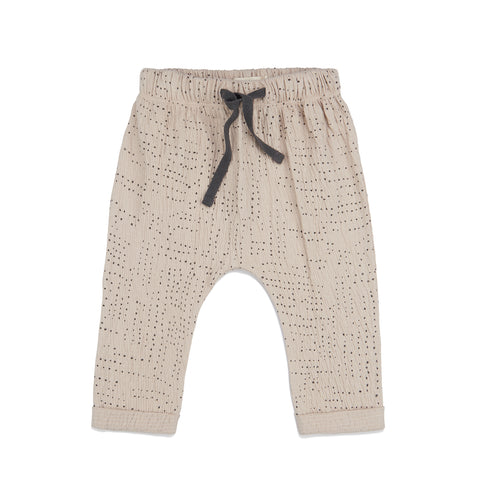 Phil and Phae Textured Baby Pants AOP Almond Milk