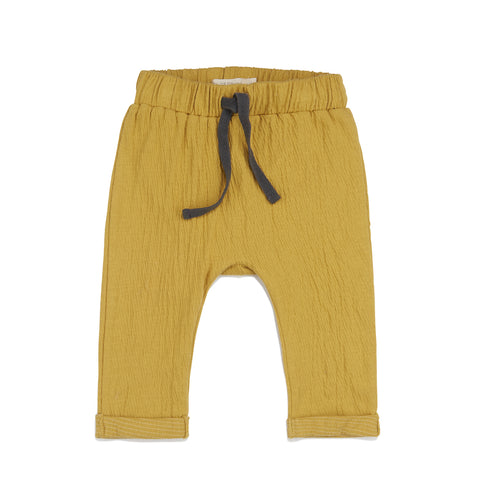 Phil and Phae Textured Baby Pants Dusty Yellow