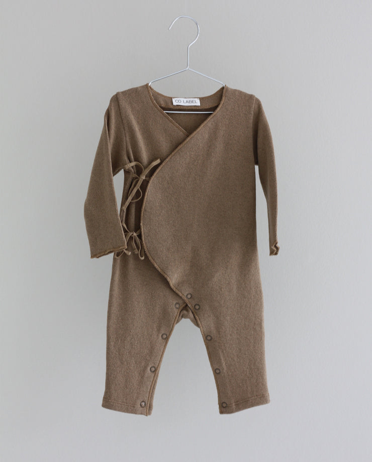 Co Label Warm Eddie Babysuit Caramel