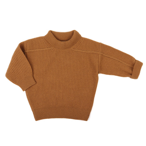 Phil and Phae Woolblend oversized knit sweater Gold Ochre