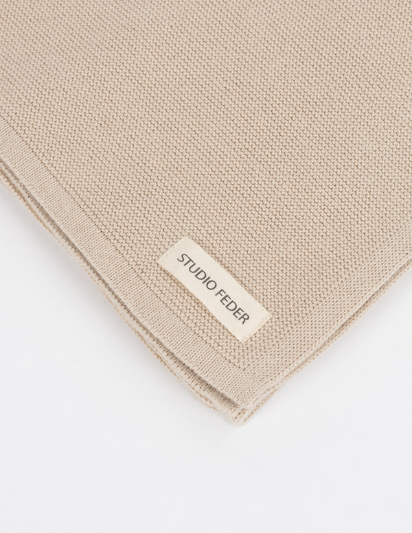 Studio Feder Baby Throw Oat