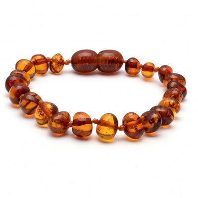 Amber Bracelet Cognac Polished (two sizes 14 or 16.5 cm)