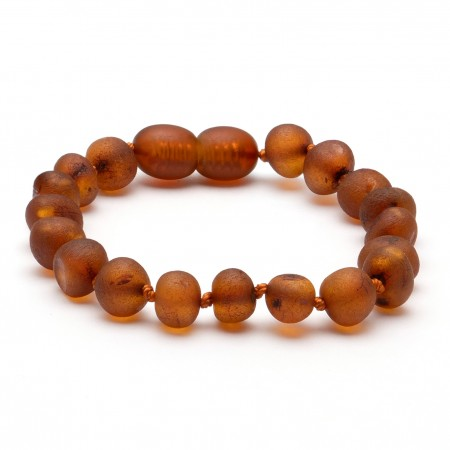 Amber Bracelet Cognac Raw (two sizes 14 or 16.5 cm)
