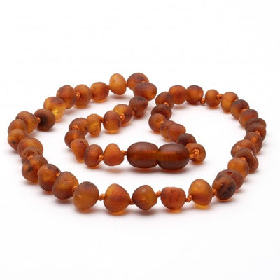 Amber Necklace Cognac Raw (two sizes 32 or 38 cm)
