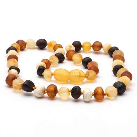 Amber Necklace Multi Baroque Raw (two sizes 32 or 38 cm)