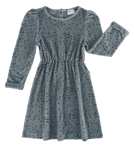 Maed for mini -  Blue Leopard AOP Dress
