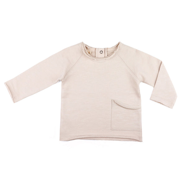 Phil and Phae Raw-edged baby sweater Oatmeal