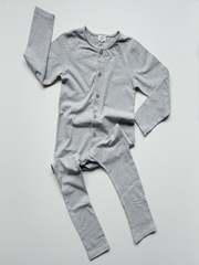 The Simple Folk The Workman Playsuit Gray Melange