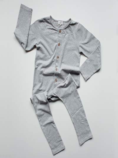 The Simple Folk The Workman Playsuit Grey Melange - Last one 2/3Y