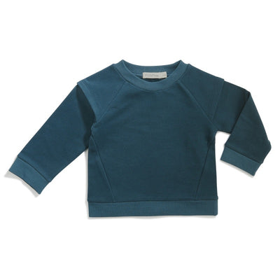 Phil and Phae Epaulette Sweater Teal 6-12M