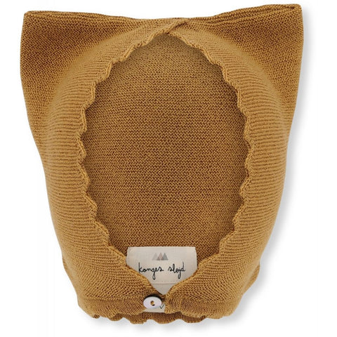 Konges Slojd Cat Helmet Wool Knit Mustard