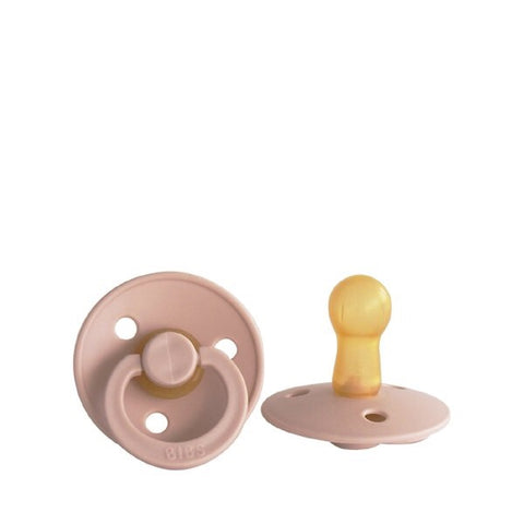 BIBS classic round pacifier - Blush