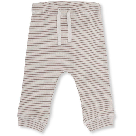 Konges Sløjd Kaya Leggings Striped Ruben Rose/ Natural - Last one 68/74