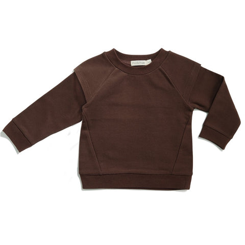 Phil & Phae Epaulette sweater Cocoa