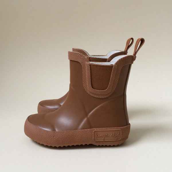 Konges Slojd Rubber Welly Boots Caramel