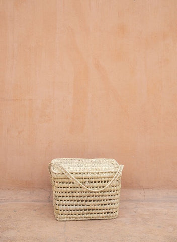 Coming soon - The Souks Handwoven Palm Leaf Basket L