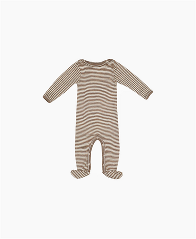 Engel Wool/ Silk Baby Suit with feet Walnut/Natural