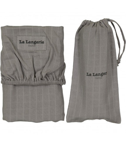 La Langerie Baby Fitted Sheet Taupe Grey