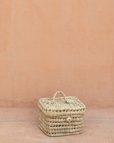The Souks Handwoven Palm Leaf Basket S