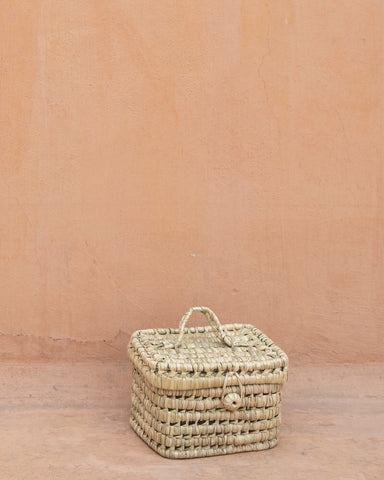 Coming soon - The Souks Handwoven Palm Leaf Basket S