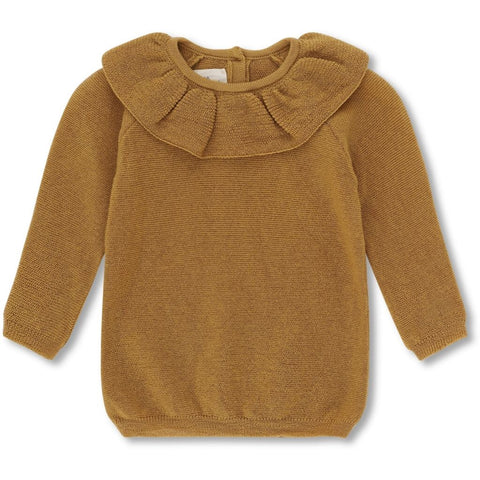 PRE ORDER Konges Sløjd Fiol Wool Knit Collar Sweater Mustard