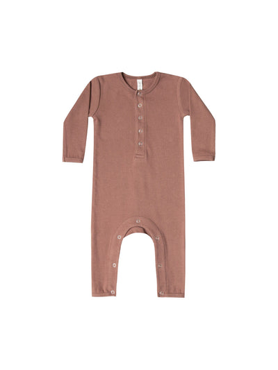 Quincy Mae Ribbed Babysuit Clay