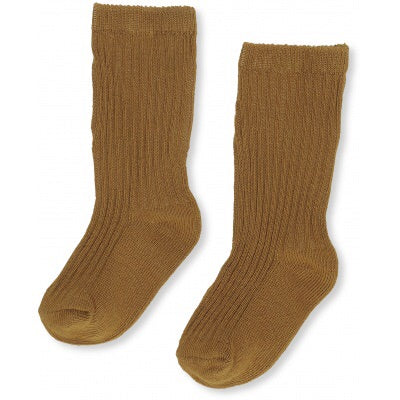 Konges Slojd Hisao Rib Socks Dark Honey