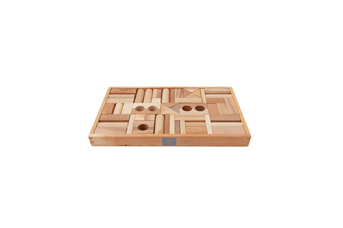 Wooden Story Natural Blocks in Tray 54pcs