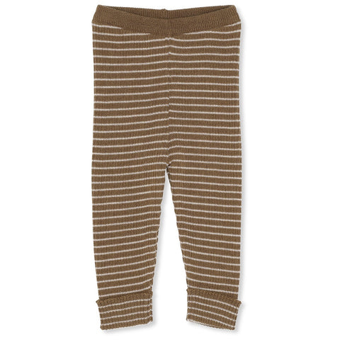 Konges Slojd Meo Knit Pants Striped Olive Beige