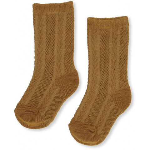 Konges Slojd Fuma Sock Pointelle Dark Honey