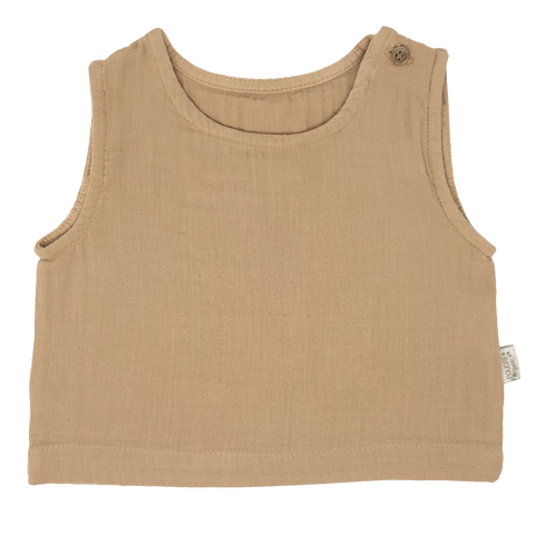 Poudre Organic Ceylan Tank Top Indian Tan