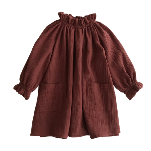 Liilu Oana Dress Chestnut - Last one 2-4Y
