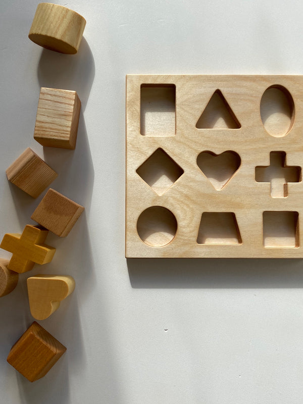 Wooden Story Natural Shape Sorter Puzzle