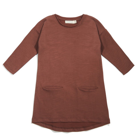 Phil & Phae Raglan Pocket Dress Russet - Last one 18M