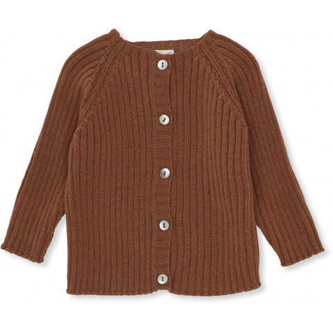 Konges Slojd Hysken Wool Cardigan Toffee (pre order ships next week)