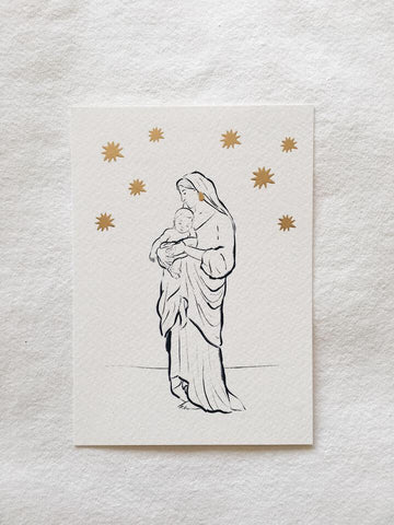 Amber de Vreng Holy Mary Card