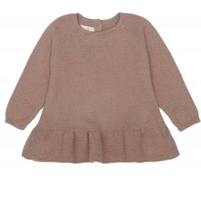 Konges Sløjd Fortin Frill Cotton Blouse Sweater Bark