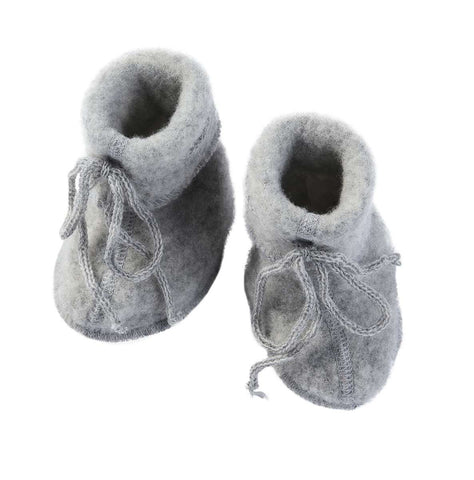 Engel Organic Wool Booties Grey