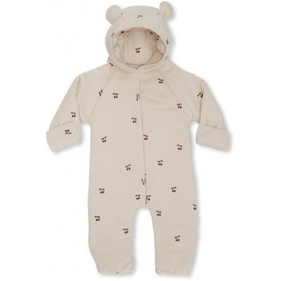 Konges Sløjd Newborn Onesie with Hood Cherry Blush