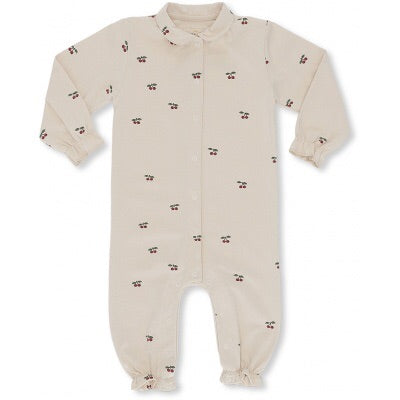 Konges Sløjd Onesie with collar Cherry Blush