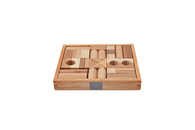 Wooden Story Natural Blocks in Tray 30pcs