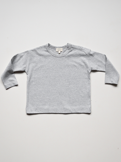 The Simple Folk The Long Sleeve Boxy Tee Grey Melange