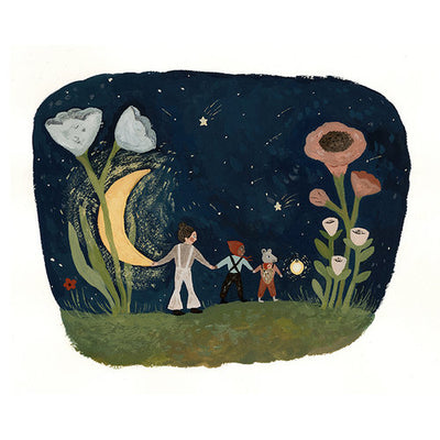 Tijana Draws Friends of the moon print 20x20cm