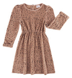 Maed for mini Pink Leopard AOP Dress - Last one 5-6Y