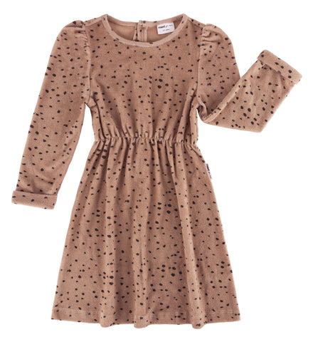 Maed for mini Pink Leopard AOP Dress - Last one 4-5Y