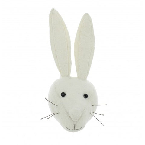 Fiona Walker Animal Head White Rabbit Mini
