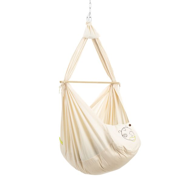NONOMO® Swinging Hammock-Set Baby Classic with wool mattress